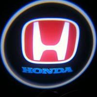 Дверной логотип LED LOGO HONDA подсветка дверей (2 логотипа)