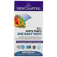 Мультивитамины для мужчин  55+  New Chapter, на каждый день, 72 вегетарианских таблетки