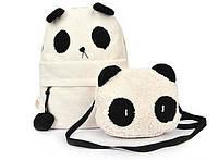 Рюкзак Панда + сумка. Рюкзак для девочки.