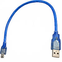 Кабель удлинитель USB - Mini USB Blue