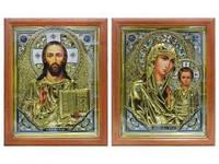 Иконы Иисус Христос и Пресвятая Богородица Казанская