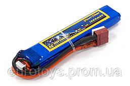 Аккумулятор для страйкбола Giant Power (Dinogy) Li-Pol 1000 мАч 7.4 В 103x20x11,5 мм T-Plug 25C