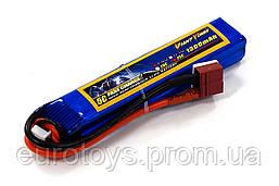 Аккумулятор для страйкбола Giant Power (Dinogy) Li-Pol 1300 мАч 7.4 В 103x20x16 мм T-Plug 25C