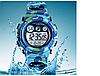 Skmei 1547 KIDS голубой камуфляж спортивные детские часы, фото 2