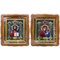 Иконы Иисуса Христа и Пресвятой Богородицы Казанской