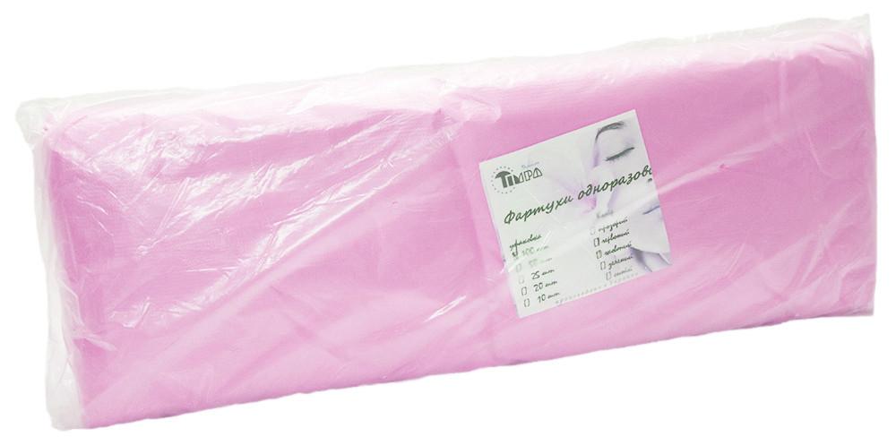 Фартуки одноразовые, розовые 100 шт