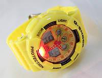 Часы женские G-Shock - Baby _G, желтые , подсветка, фото 1