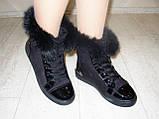Ботинки зимние женские черные С540, фото 4
