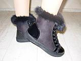 Ботинки зимние женские черные С540, фото 5