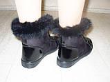 Ботинки зимние женские черные С540, фото 6
