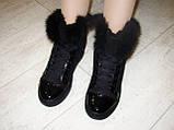 Ботинки зимние женские черные С540, фото 7