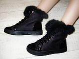 Ботинки зимние женские черные С540, фото 8
