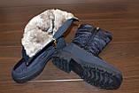 Сапоги дутики зимние женские синие С628, фото 5