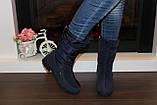 Сапоги дутики зимние женские синие С628, фото 8