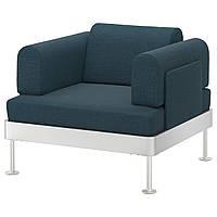 IKEA DELAKTIG (992.537.34) Кресло, с Темно-синим с принтом