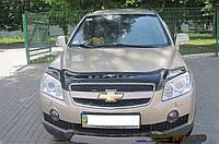 Дефлектор капота  Chevrolet Aveo II c 2011, Мухобойка Chevrolet Aveo
