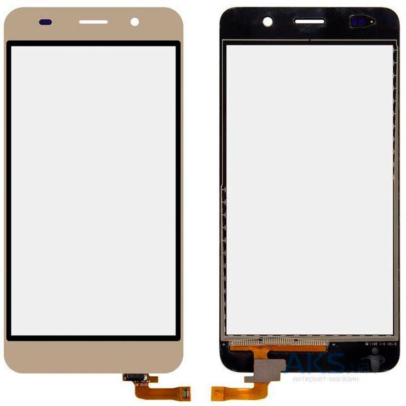 Дисплей и сенсор (модуль) на Huawei Honor 4a, Y6 (2015) золотой