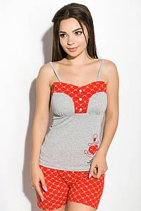 Пижама женская 107P013 (Серо-красный)