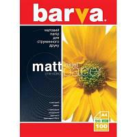 Фотобумага BARVA матовый односторонний (Формат: A4 (210x297 mm), Плотность: 90 г / м2 Количество в упаковке: 1