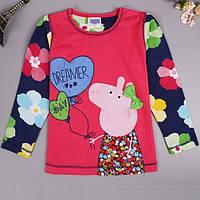 """Детская кофточка на девочку Peppa Pig м/ф """"Свинка Пеппа"""" /хлопок / 1.5-2 года 92 см (18-24 мес)"""