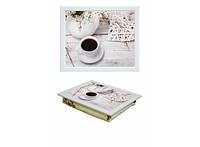 Поднос с подушкой Утренняя чашка кофе 380-9713014