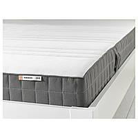 IKEA MORGEDAL (102.724.15) Латексный матрас средней твердости, темно-серый, 80x200 см