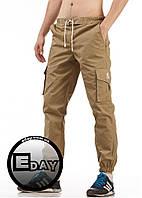"""Мужские штаны карго """"Ястребь"""" Khaki (Песок) есть опт, фото 1"""