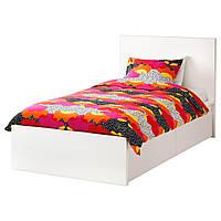 IKEA MALM (690.327.20) КАРКАС кровати с 2 контейнерами, белый, Leirsund, 90x200 см