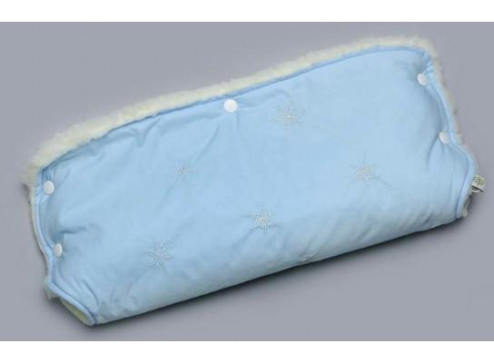 Муфта голубая для коляски на овчине 227-18913898