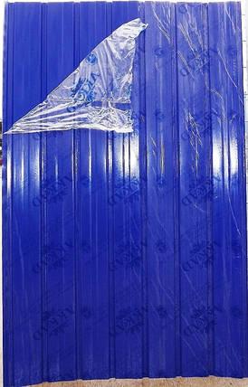 Профнастил ПС-10, синий, 2м Х 0,95м, для забора, фото 2
