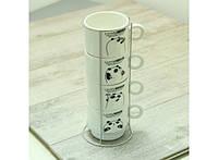 Набор чайный на 4 персоны на подставке Панда 88-8718447