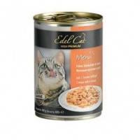 Edel Cat Нежные кусочки в соусе 3 вида мяса птицы, 400г