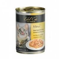 Edel Cat Нежные кусочки в соусе с курицей и уткой, 400г