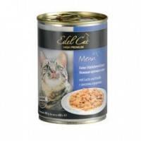 Edel Cat Нежные кусочки в соусе с лососем и форелью, 400г
