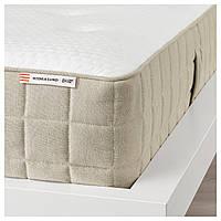 IKEA HIDRASUND (403.726.92) Матрас, пружины карманные, жесткие, натуральные, 180x200 см