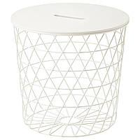 IKEA KVISTBRO (303.494.52) Стол декоративный с отделением, белый, 44 см