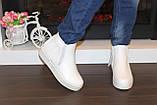 Ботиночки женские белые с бахромой Д430, фото 6