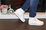 Ботиночки женские белые с бахромой Д430, фото 7