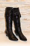 Сапоги женские черные натуральная кожа Д113, фото 3