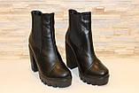 Ботинки женские черные натуральная кожа Д442, фото 3