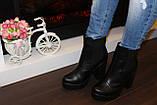 Ботинки женские черные натуральная кожа Д442, фото 6