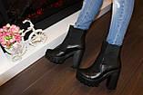 Ботинки женские черные натуральная кожа Д442, фото 7