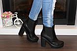 Ботинки женские черные натуральная кожа Д442, фото 9