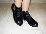 Ботинки женские черные натуральная кожа Д494, фото 4