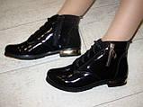 Ботинки женские черные натуральная кожа Д494, фото 8