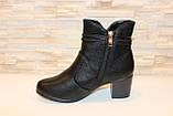 Ботиночки женские черные на небольшом каблуке Д558, фото 2