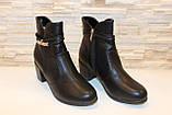 Ботиночки женские черные на небольшом каблуке Д558, фото 3