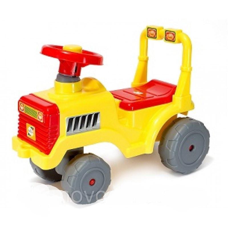 Каталка БебиТрактор с пищалкой и бардачком под сиденьем