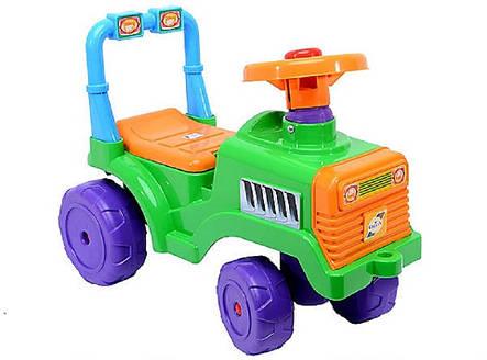 Каталка БебиТрактор с пищалкой и бардачком под сиденьем, фото 2