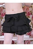 Школьная юбка - шорты для девочки Оборки Размер 122, 128 см